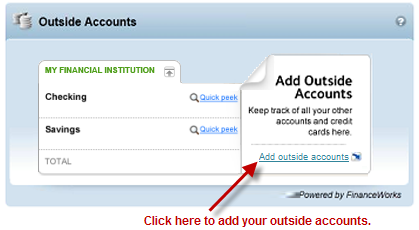 Add Outside Accounts