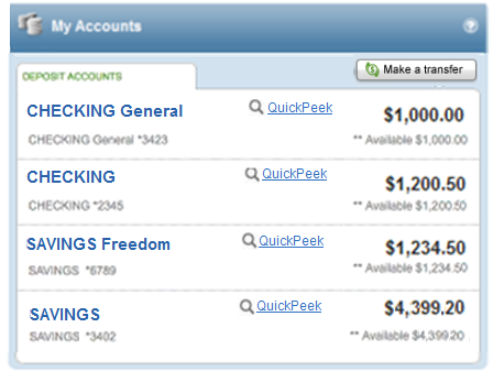 Check Account Balances