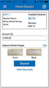 How to Make a Mobile Deposit Step 2